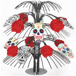 Skull & Rose Table Centrepiece - 35cm