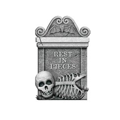 Rest In Pieces Tombstone - 55cm