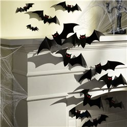 Large 3D Paper Bats - 43cm (Various Sizes)