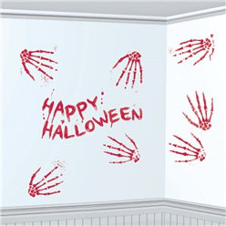 Bloody Skeleton Hand Prints