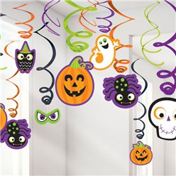 Halloween Family Friendly Hanging Swirls - 60cm