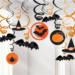 Hats and Bats Hanging Swirls - 60cm