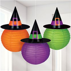 Lanterns with Witch Hat - 24cm