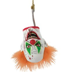 Evil Clown Hanging Head - 40cm