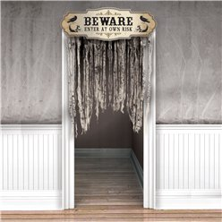 Boneyard Gauze Door Curtain 1.4m