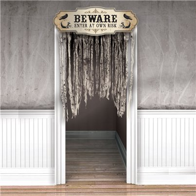 Boneyard Gauze Door Curtain - 1.4m