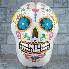 Colourful Light-Up Skeleton Head - 1.2m