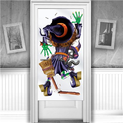 Crashing Witch Door Cover - 76cm