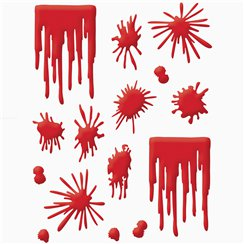 Gel Blood Splat Window Clings