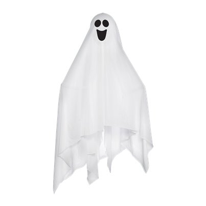 Large Fabric Ghost with Bendable Arms - 76cm