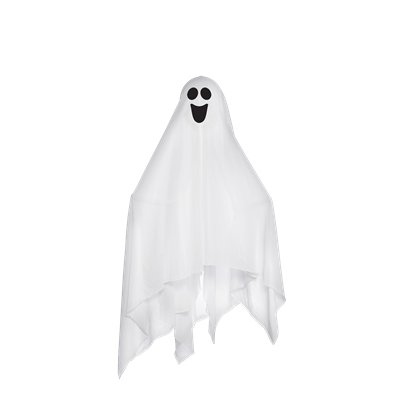 Small Fabric Ghost with Bendable Arms (43cm)