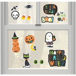 Halloween Friends Glitter Window Decorations