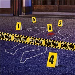 Crime Scene Decoration Kit