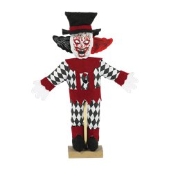 Standing Scary Clown Prop - 28cm
