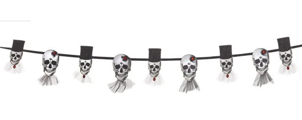 Bride and Groom Skull Banner (1.8m)