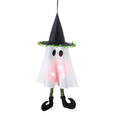 Hanging Light Up Ghost - 26 cm