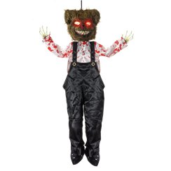 Scary Teddy Hanging Decoration - 1.3 m