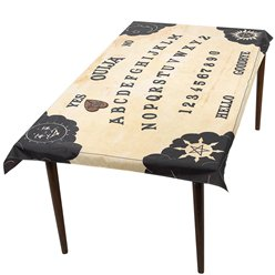 Ouija Board Table Cover and Planchette Coaster - 1.95m x 1.15m