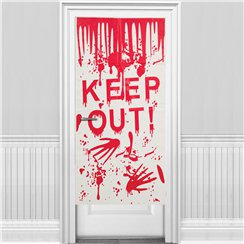 'Keep Out' Halloween Door Cover (58 x 118cm)