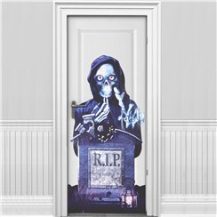 'RIP' Halloween Door Cover (85 x 165cm)