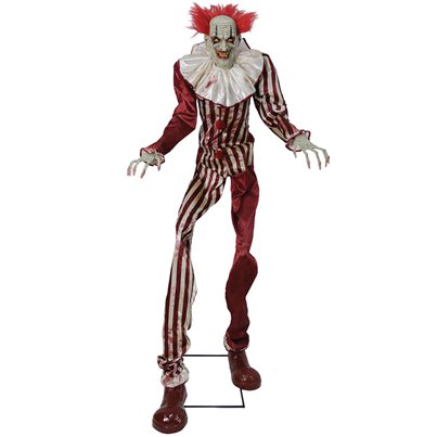 Zombie Clown Life-size Animated Figure (2.15m)