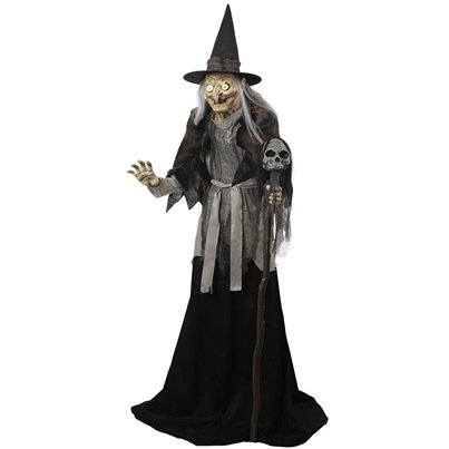 Lunging Haggard Witch Life-size Animated Figure (1.8m)