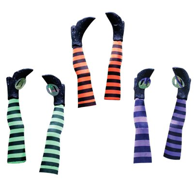 Witch Legs Yard Stakes - Assorted Colours