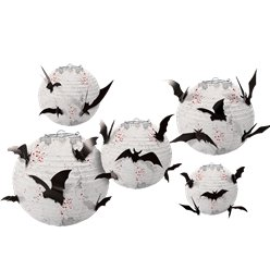 Paper Lanterns with Bats