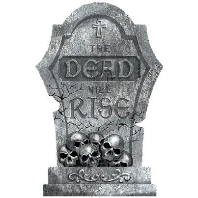 The Dead Will Rise Tombstone - 56cm