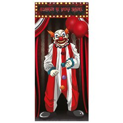 Scary Clown Door Decoration - 1.5m x 75cm