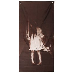 Ghost Girl Fabric Door Decoration - 1.6m x 75cm