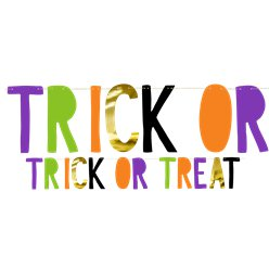 Trick or Treat Banner - 1m