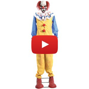 Animated Twitching Clown - 1.8m