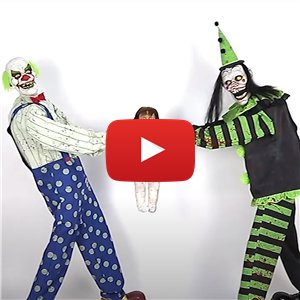 Animated Tug-Of-War Clowns - 1.8m