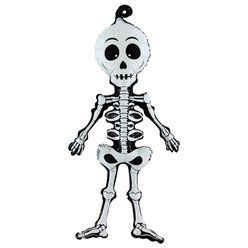 "Linky Scary Skeleton Balloon - 29"" Foil"