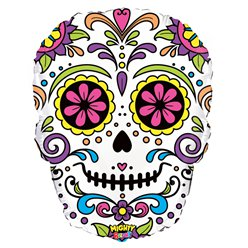 "Mighty Sugar Skull Balloon - 27"" Foil"