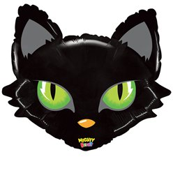 "Mighty Cat Head Balloon - 28"" Foil"