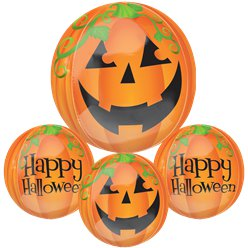 "Pumpkin Orbz Balloon - 16"" Foil"