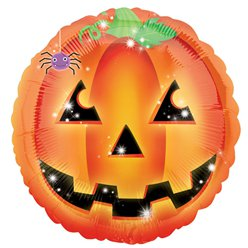 "Playful Pumpkin Foil Balloon - 18"" Foil"