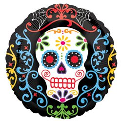"Day of the Dead Foil Balloon - 18"" Foil"