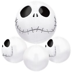 "Jack Skellington Orbz Balloon  - 16"" Foil"