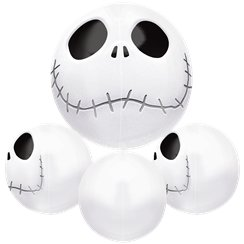 "Jack Skellington Orbz Balloon  - 16""-18"" Foil"