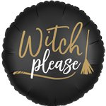 "'Witch Please' Double-Sided Foil Balloon (18"")"