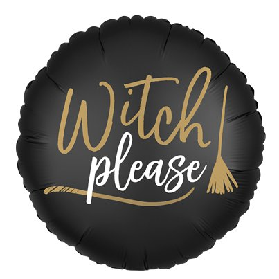 "'Witch Please' Double-Sided Balloon - 18"" Foil"