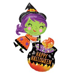 "Witch & Cauldron Supershape Foil Balloon (28"")"