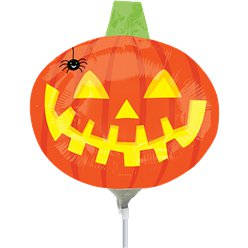 Pumpkin with Spider Mini Foil Balloon