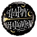 "Halloween Broomstick Foil Balloon (18"")"