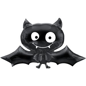 Black Bat SuperShape Balloon - 24