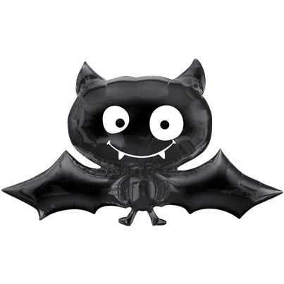 "Black Bat SuperShape Balloon - 24"" x 41"" Foil"