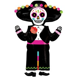 "Day of the Dead SuperShape Balloon - 21"" x 34"" Foil"